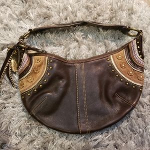 Fabulous Coach brown hobo with embroidery …